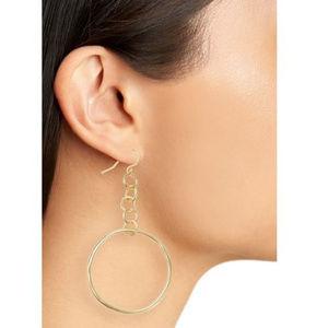 Gorjana Quinn Chainlink gold earrings New in Box